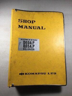 Komatsu D60ap D65ap Bulldozer Shop Service Manual