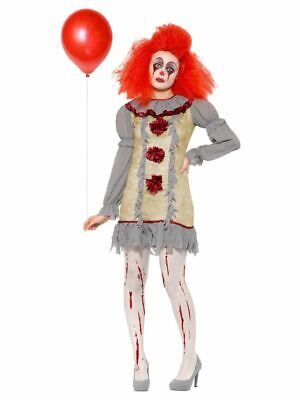 Damen-Kostüm Vintage Clown Killer Pennywise Halloween Horror Es Mörder Kleid