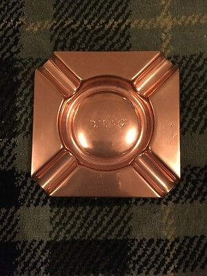 Fabulous Heavy  Antique Copper Ashtray - Bm& Co