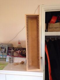 Wooden CD Rack - Wall-mountable or free-standing