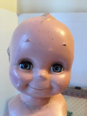 "~ HTF! Vintage Hard Plastic 1950's 13"" Open Close Eye Kewpie Doll.. No Arms ~"