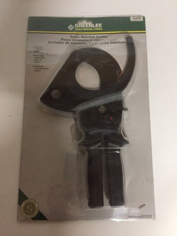 GREENLEE 45240 CUTTER, CABLE-RATCHET, RATCHETING CABLE CUTTERS