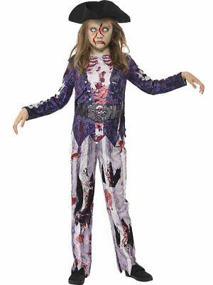 Halloween Piraten-Zombie Kostüm für Kids (7-9 Jahre) - - Piraten Kostüm Top