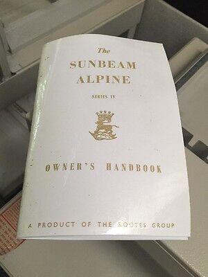 Sunbeam Alpine Series Mark 4 IV Owners Instruction Handbook Talbot Rootes