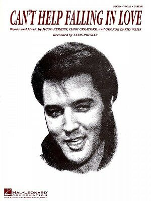 Can't Help Falling in Love Sheet Music Easy Piano Elvis Presley NEW 000300286