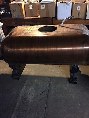 Antique Vintage Copper Kitchen Range Hood Curved Metal Stove Hood