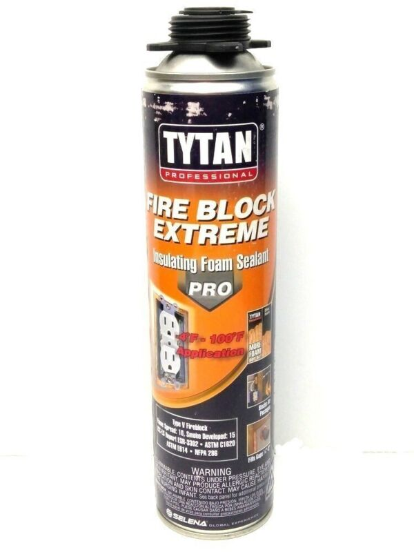 (12 Cans) Tytan Professional Fire Block Extreme Insulating Foam Sealant Pro 24oz