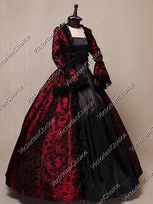 Renaissance Victorian Period Dress Masquerade Ball Gown Steampunk Clothing 119