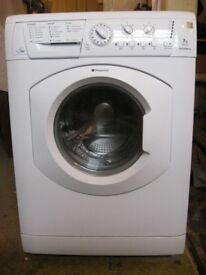 55 Hotpoint WDL520 7kg 1200 Spin White Sensor Drying Washer/Dryer 1 YEAR GUARANTEE FREE DEL N FIT