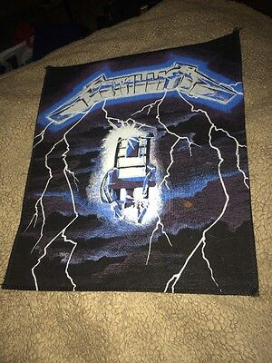 """Metallica """"Ride The Lightning"""" Mint Vintage Giant Sew on Jacket Patch"""
