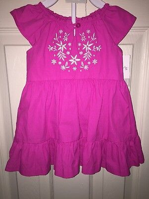 NWT - Infant Girls Carter's 2 Piece Set Pink Dress With Matching Panties, 6 Mont