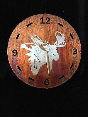 Handcrafted Rustic Metal Moose Wall Clock 12