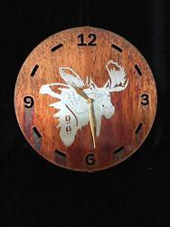 Handcrafted Rustic Metal Moose Wall Clock 12 great cabin, lodge, retreat decor