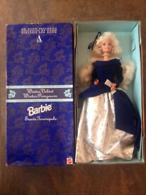1995 Barbie Avon Special Collector Edition Winter Velvet Doll,new in box (has never been out of box)