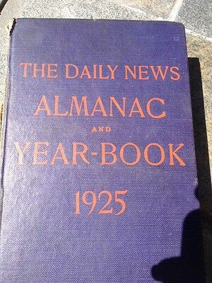 1925 Chicago Daily News Almanac   Yearbook  Newspaper Clippings 6 Pc