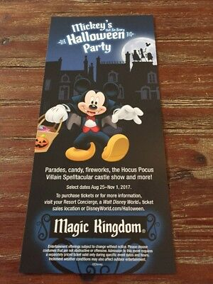 2017 Mickey's Not So Scary Halloween Party Walt Disney World Brochure