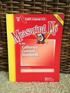 NEW Measuring Up CA Language Arts Level D 4th Grade 4 Workbook 9781413818482