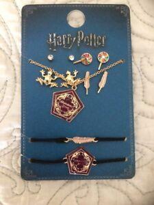 Primark Harry Potter Earrings Bracelet Necklace Jewellery Set BN Chocolate Frog