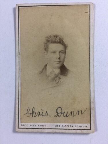 Victorian Carte De Visite CDV: David Rees: London: 1890: Named Chris DUNN