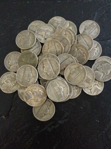 10 Roll Of War Nickels  (400 coins)  All 35% silver