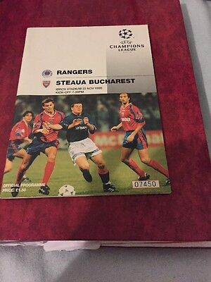 Rangers V Steaua Bucharest 22nd November 1995 Champions League Group C