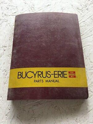 Bucyrus-erie 90xc Crane Parts Catalog Manual