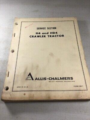 Allis Chalmers H4 Hd4 Crawler Dozer Parts Catalog Manual