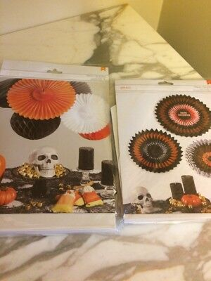 Bundle of 2 Packages Halloween Hanging Honeycomb Tissue Balls Fans Party - Halloween Party Packages