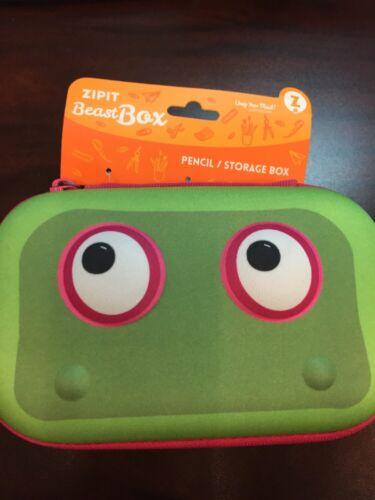Zip It Beast Box Pencil Storage Box Green