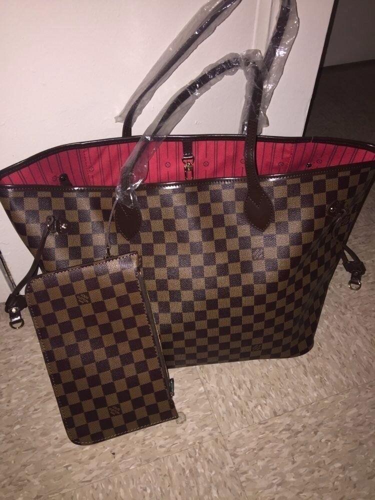 Neverfull Bag Medium With Purse Louis Vuitton