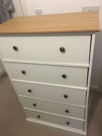 White chest of drawers - Argos Kensington