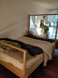 GJÖRA IKEA double bed with Leirsund base