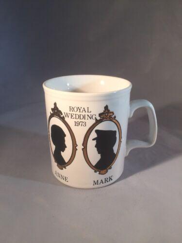 Staffordshire Pottery Mug Royal Wedding 1973 Princess Anne To Mark Philips
