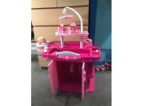 Baby doll changing station.