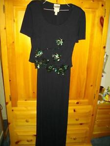 JOSEPH RIBKOFF DRESS - DARK NAVY WITH BLING