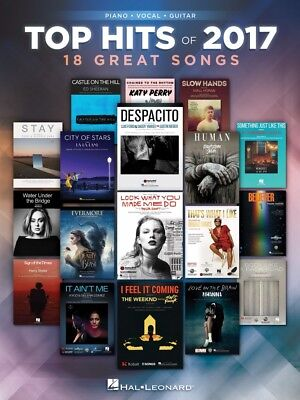 Top Hits of 2017 Sheet Music 18 Great Songs Piano Vocal Guitar Book 000244684