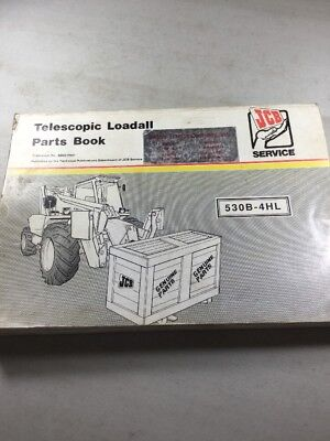 Jcb 530b-4hl Loadall Parts Book Manual