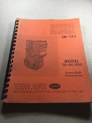 Twin Disc Td-44-1100 Powershift Transmission Service Manual