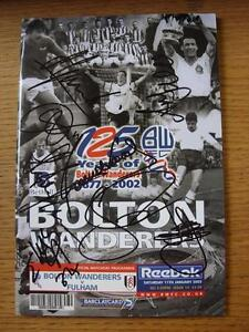11-01-2003-Autographed-Programme-Bolton-Wanderers-v-Fulham-Signed-By-8-Item
