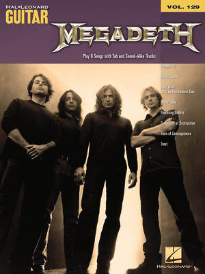 Megadeth Sheet Music Guitar Play-Along Book and Audio NEW 000701741