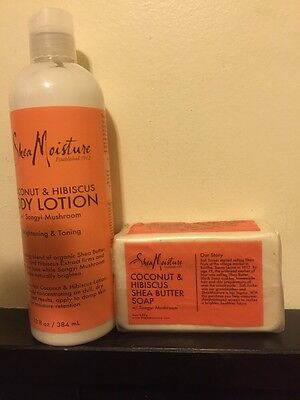 Shea Moisture Coconut Hibiscus Shea Butter Body Lotion And Soap. Great