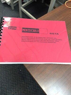 LANCIA Beta Monte Carlo Parts Manual Catalogue Service Workshop