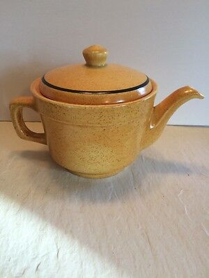 Stangl Teapot Stoneware Brown Speckled No Chips No Cracks