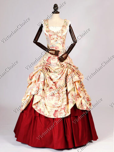 Victorian Civil War Vintage West Southern Belle Gown Scarlett O