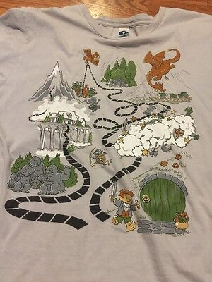 Woot Shirt Lord Of The Rings Hobbit Dragon Large Gray