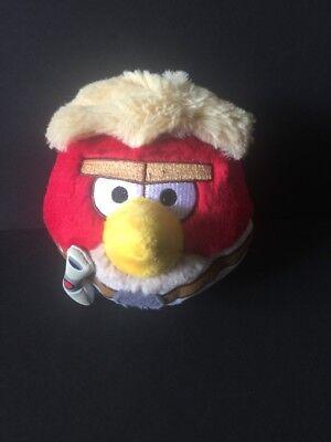 Angry Birds Star Wars Plush Luke Skywalker Red Bird Soft Blonde Hair 2012 Lucas