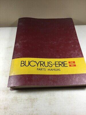 Bucyrus Erie 30xc Crane Parts Catalog Manual Original