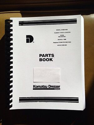 International Dresser 510b 515b Wheel Loader Chassis Parts Manual Book Revised