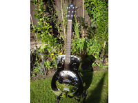 Electro Acoustic Recording King Resonator Guitar RM-998-D-FE with hard case.