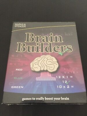 Marks And Spencer Brain Builders (Games To Really Boost Your Brain) New-Sealed